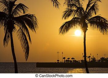 Stunning Sunset in Arrecife in Lanzarote
