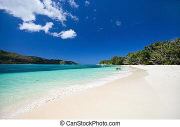 Stunning tropical beach at Seychelles
