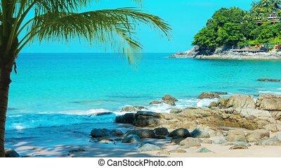 Stunning Tropical Beach on Andaman Sea in Kamala, Phuket, Thailand