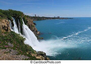 Stunning View at Duden Waterfall in Antalya - Turkey -...
