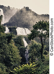 Stunning view of Marmore Waterfalls, Umbria