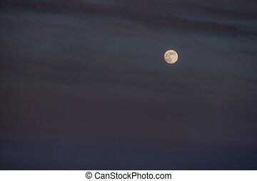 stunningly beautiful view of the moon in the sky
