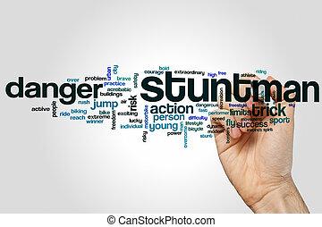 stuntman , λέξη , σύνεφο