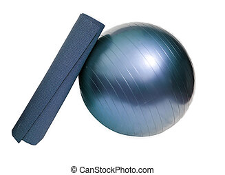 stuoia yoga, e, palla
