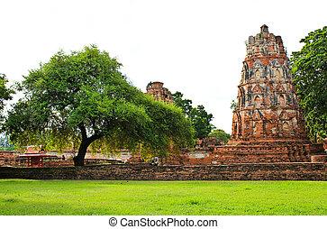 Stupa at Wat Mahathat, Ayutthaya, Thailand