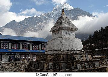 Stupa - Namche Bazaar - himalayan stupa