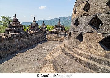 stupas, 寺院, borobudur