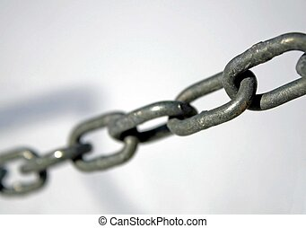 sturdy steel rings between them all together to form a chain
