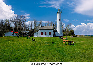 Sturgeon Point Lighthouse, built in 1869