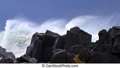 sturm, wasserlandschaft
