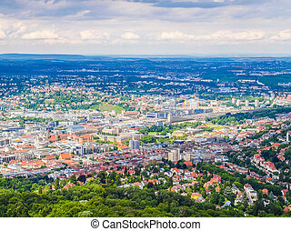 Stuttgart, Germany HDR - High dynamic range HDR View of the...