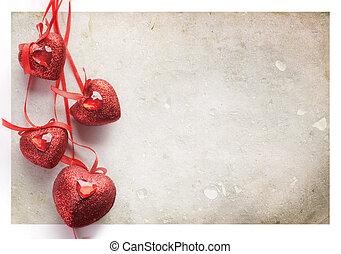 st.valentine's, card., 型, スタイルを作られる
