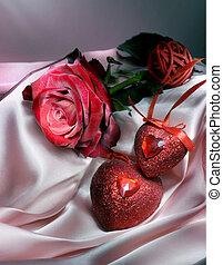 st.valentine's, fundo, com, espaço cópia