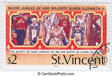 ST.VINCENT - CIRCA 1977: stamp printed in ST.Vincent show ...
