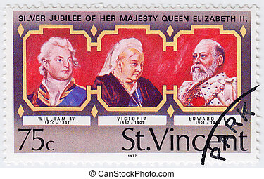 ST.VINCENT - CIRCA 1977: stamp printed in ST.Vincent shows ...