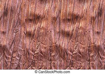 stycke, av, brun, tyg