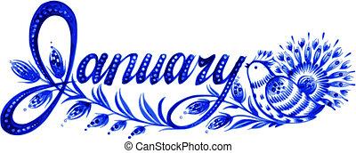 styczeń, przedimek określony przed rzeczownikami, nazwa, od,...