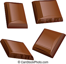 stykke, chokolade