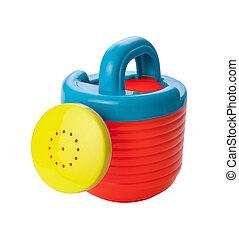 stykke legetøj, vanding kunne, (clipping, path)