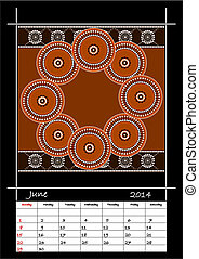 styl, aborigeno, calandrare, basato