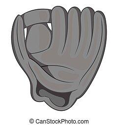styl, baseballowa rękawiczka, czarnoskóry, ikona, monochromia