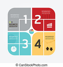 styl, czuć się, albo, może, minimalny, nowoczesny, template., website, .graphic, infographics, wektor, infographic, projektować, używany, układ