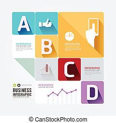 styl, czuć się, może, minimalny, nowoczesny, template., infographic, projektować, używany