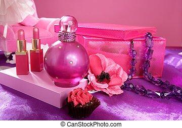 styl, fason, barbie, makijaż, obrywka stół, marność