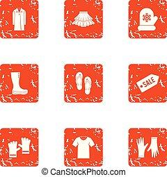 styl, grunge, ikony, komplet, sprzedaż, era