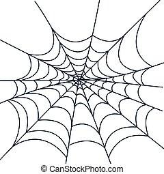 styl, halloween, kreska, spiderweb, ikona
