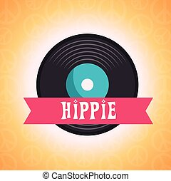 styl, hipis, tło, retro