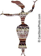 styl, kobieta taniec, etniczny
