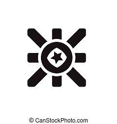 styl, kolor, pokaz, ilustracja, jeden, wektor, reklamować, albo, ikona