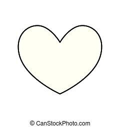 styl, kreska, serce, miłość, ikona