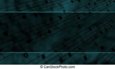 styl, muzyka notatnik, szablon, pętla
