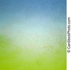 styl, nachylenie, kolor, papier, zielony, retro, cyan