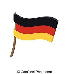 styl, niemcy bandera, rysunek, ikona