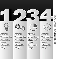 styl, nowoczesny, infographic, projektować, szablon, minimalny