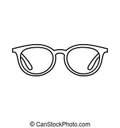 styl, okulary, szkic, ikona
