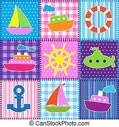 styl, patchwork, marynarka