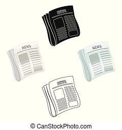 styl, pień, detektyw, symbol, papier, case., news., ikona, gazeta, osłona, wektor, rysunek, jednorazowy, illustration., śledczy