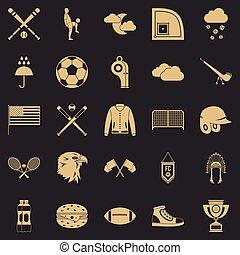 styl, rodzaje, ikony, komplet, lekkoatletyka, prosty