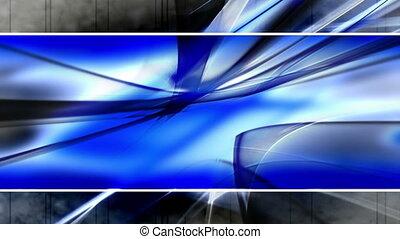 styl, szablon, błękitny, pętla, czarnoskóry, szary