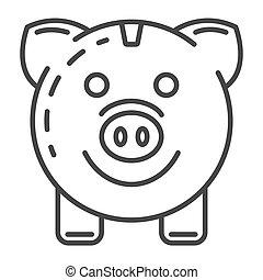 styl, szkic, energia, świnka, ikona, oprócz, bank