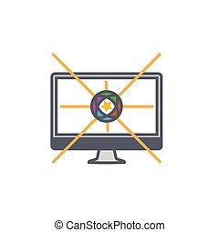 styl, szkic, pokaz, ilustracja, wektor, projektować, internet, reklamować, albo, ikona