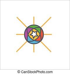 styl, szkic, pokaz, ilustracja, wektor, projektować, reklamować, albo, ikona