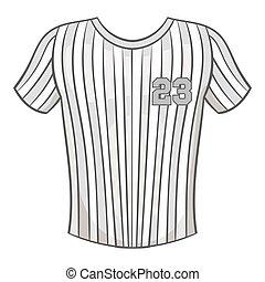 styl, t-shirt, czarnoskóry, monochromia, ikona, baseball