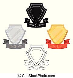 styl, valor., pień, ribbon., nagroda, symbol, rysunek, ...