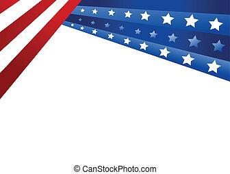styl, wektor, usa bandera