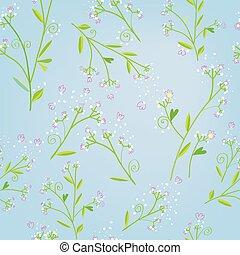 styl, wiosna, seamless, kwiatowy wzór, konserwator